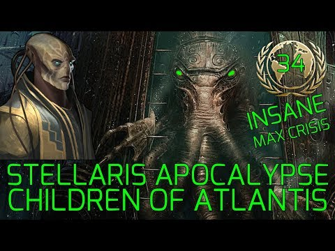 Stellaris Apocalypse Roleplay Insane - Great Relations :-) - CHILDREN OF ATLANTIS – 4K Gameplay #34