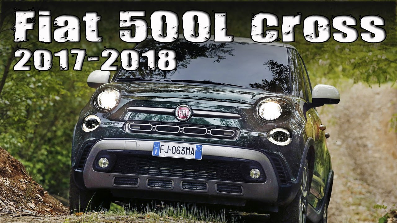 "facelifted 2017/2018 fiat 500l goes off-road with a new ""cross"