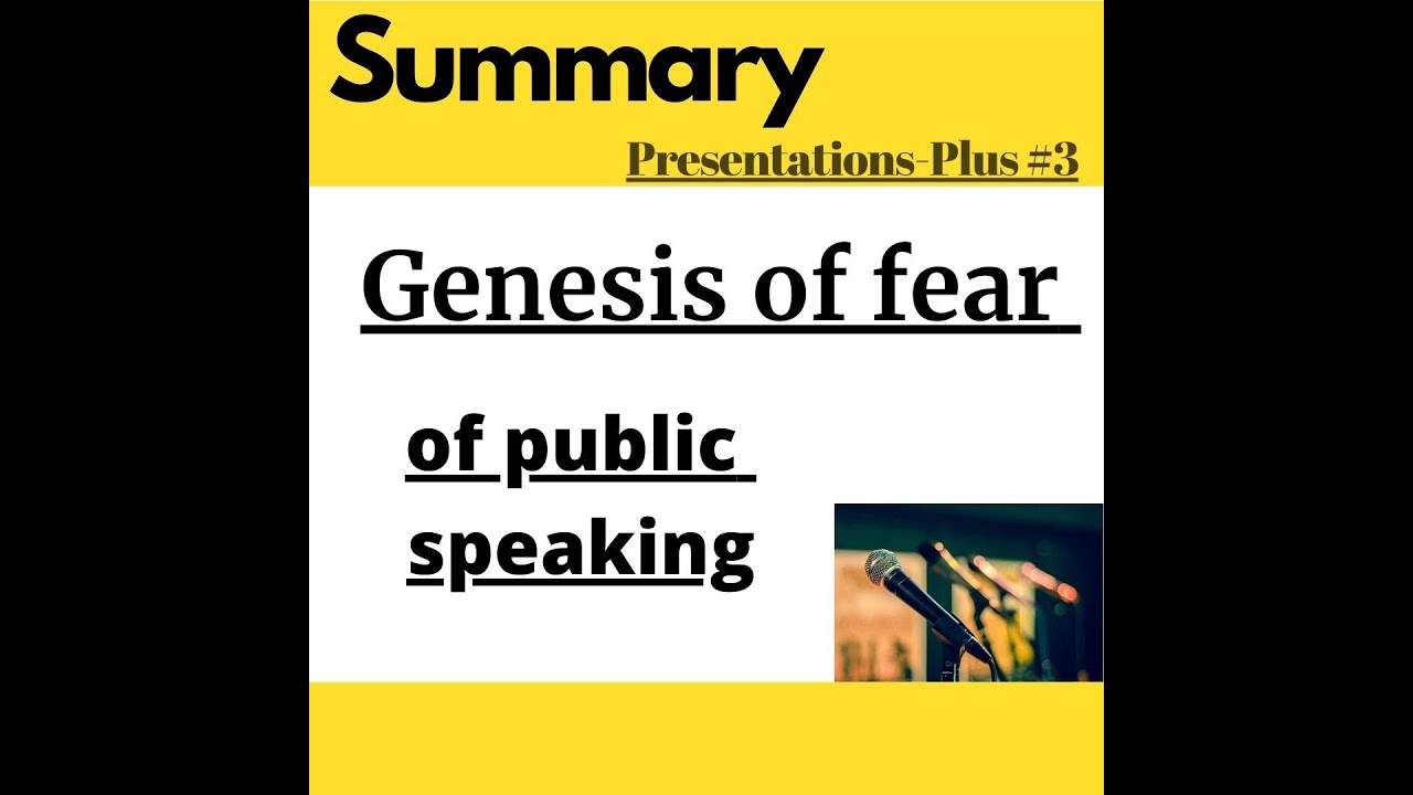 The Genesis of Fear