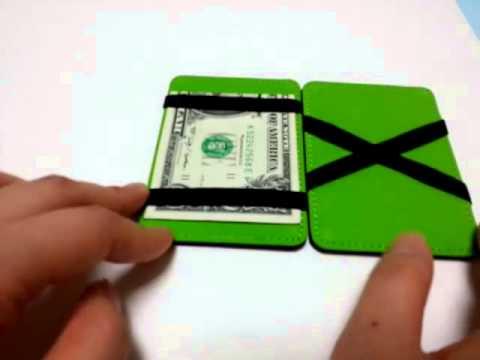 MENS MAGIC WALLET SLIM MONEY CLIP LEATHER WALLET ID CASH HOLDER CREDIT CARD  COVE d9a85122f