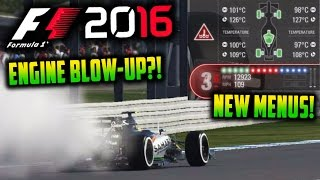 F1 2016 Game: New Race-Menu Explained - Blowing Up My Engine