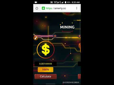 Amerty New Mining Site 100Gh/s Free.Earning Free 0.05 Btc And USD $800.