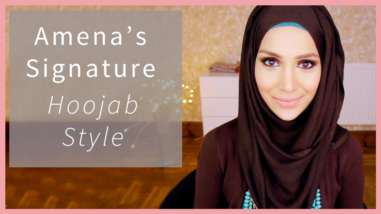 AMENAKINS HOOJAB TUTORIAL HIJAB STYLE Amena YouTube