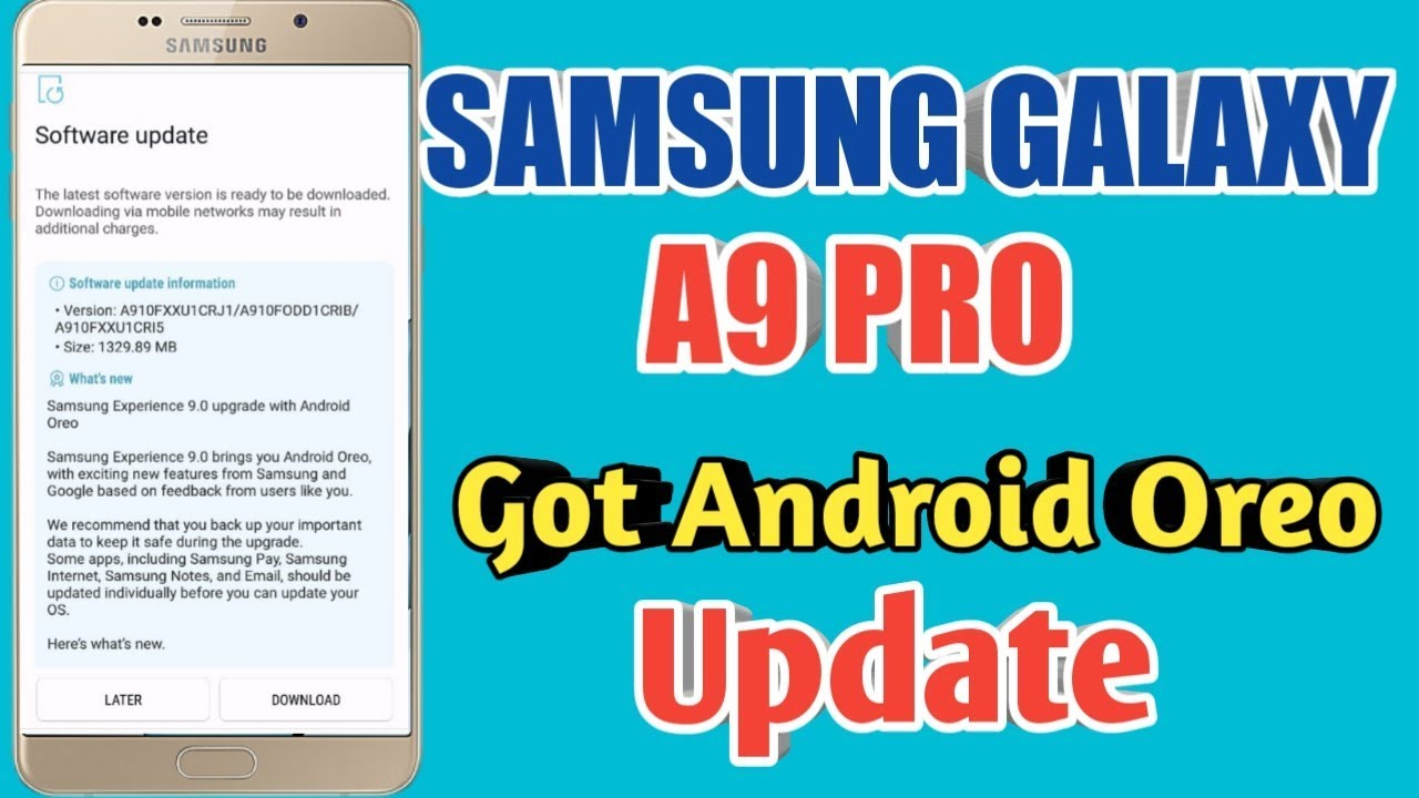 Samsung Galaxy A9 PRO Got Android Oreo update
