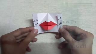 Origami Kissing Lips - { Kiss Day special Gift }