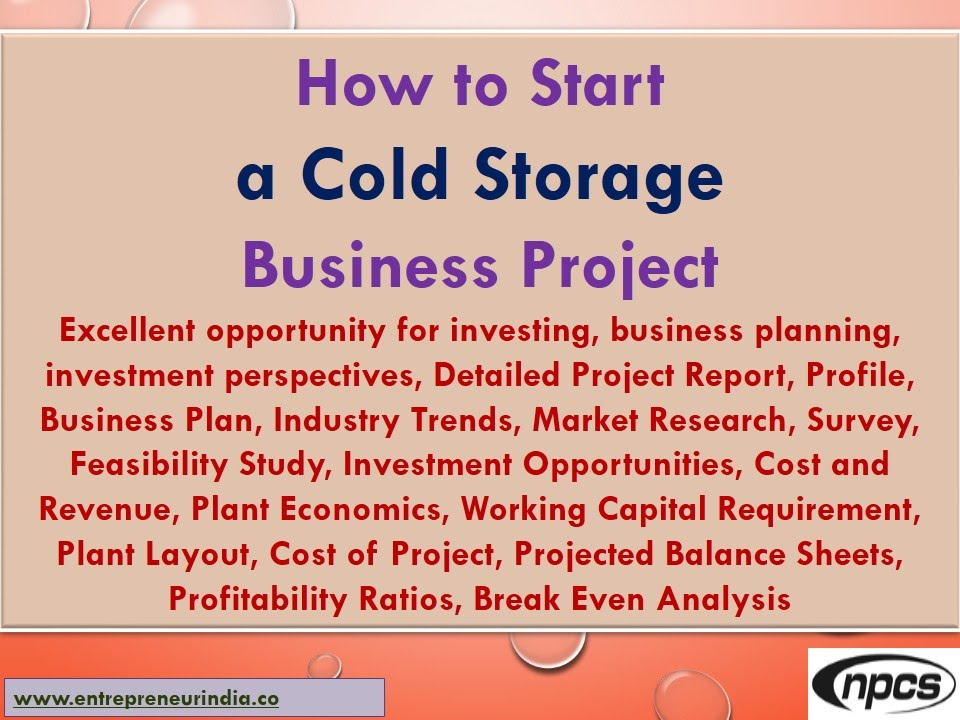 Warehouse cold storage business plan bundle