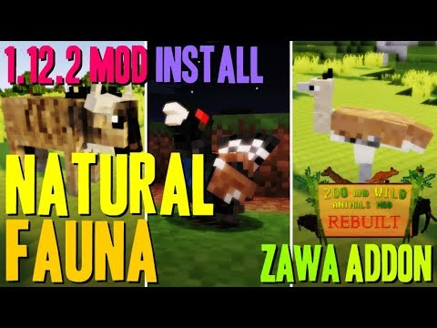 NATURAL FAUNA MOD 1 12 2 minecraft - how to download and install  [Zoo&WildAnimals 1 12 2 addon]