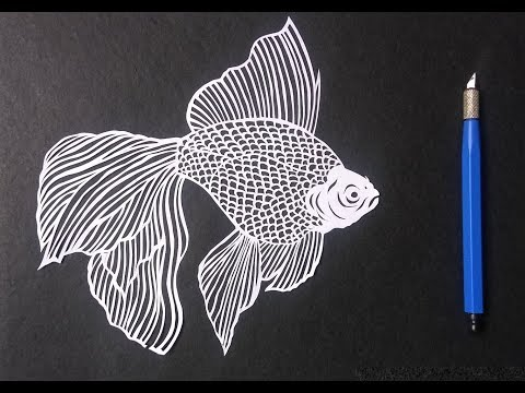 How To Draw A Fish By Paper Cutting | Paper Cutting Art | Rainbow Art | Paper Art
