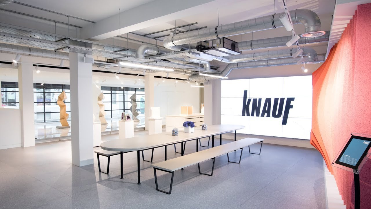 Knauf showcases building products in London showroom by Mailen Design