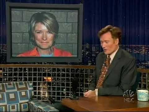 Late Night 'Cheer Up Martha Stewart (from Prison via Satellite) 10/8/04