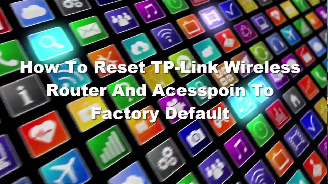 How To Reset TP Link Wireless Router And Acesspoin To Factory Default