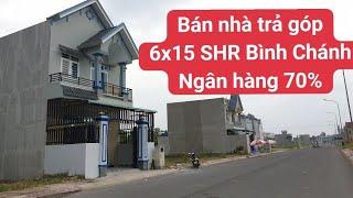 Nhà mặt tiền 6x15 SHR Đinh Đức Thiện Bình Chánh LH 0906485209 | bán nhà trả góp lãi xuất thấp