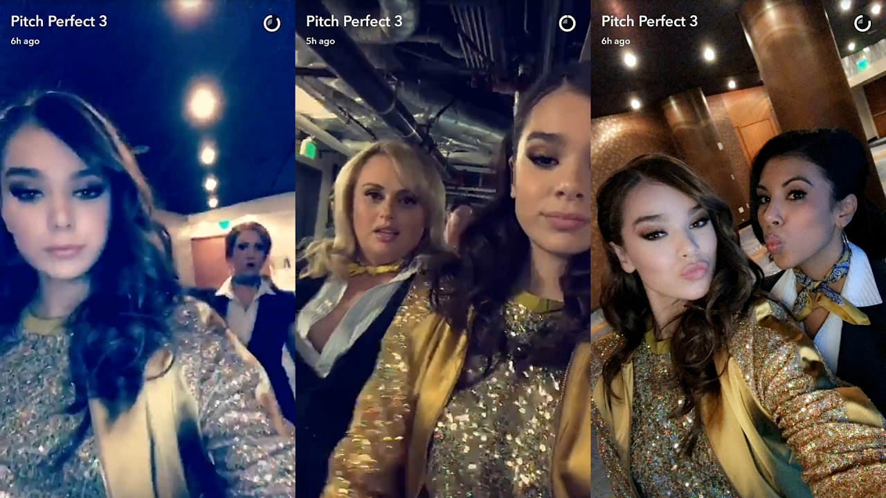 Pitch Perfect 3 Snapchat Story 16 February 2017 Hailee