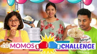 MOMOS EATING Challenge | Hot & Spicy | CookWithNisha