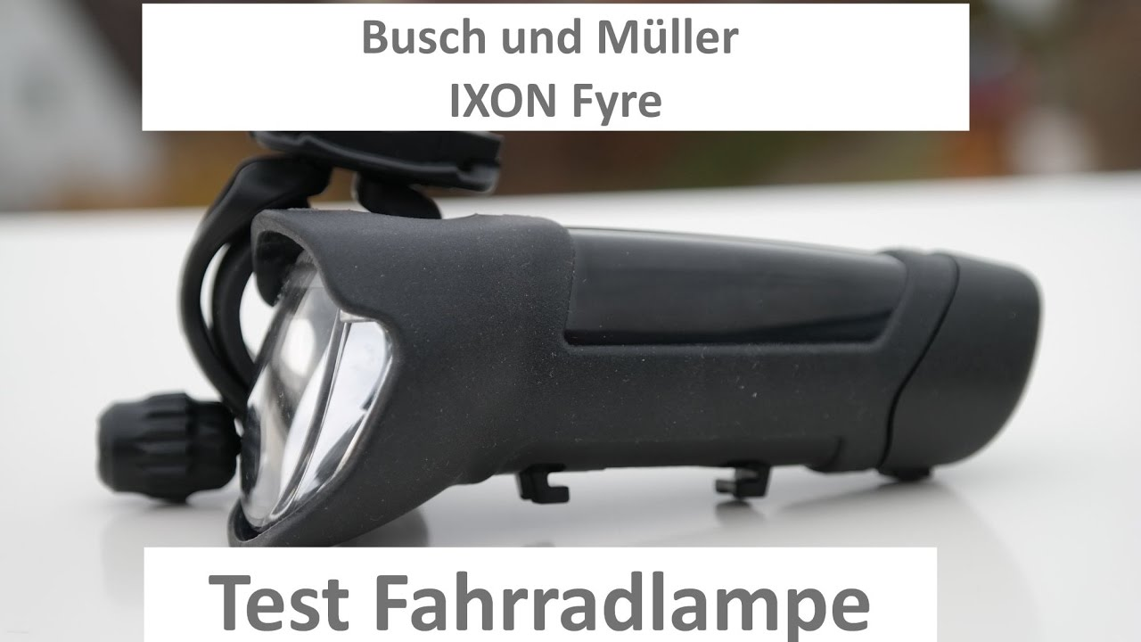 b m ixon fyre fahrradlicht led test fahrradlampe busch. Black Bedroom Furniture Sets. Home Design Ideas