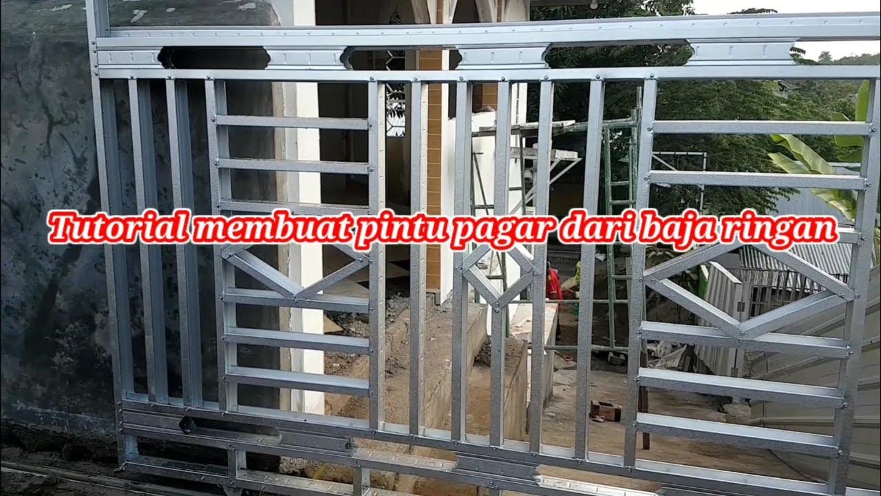 Paling mudah!!! Cara membuat pintu pagar minimalis dari ...