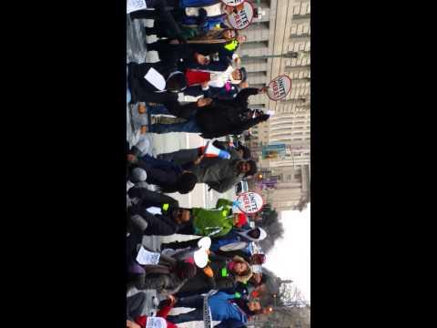 Protest in Washington DC Unite here Feb 26 2015
