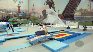 ZHANG Xiaoxiao (CHN) - 2018 Trampoline Worlds, St. Petersburg (RUS) - Qualification Double Mini R1