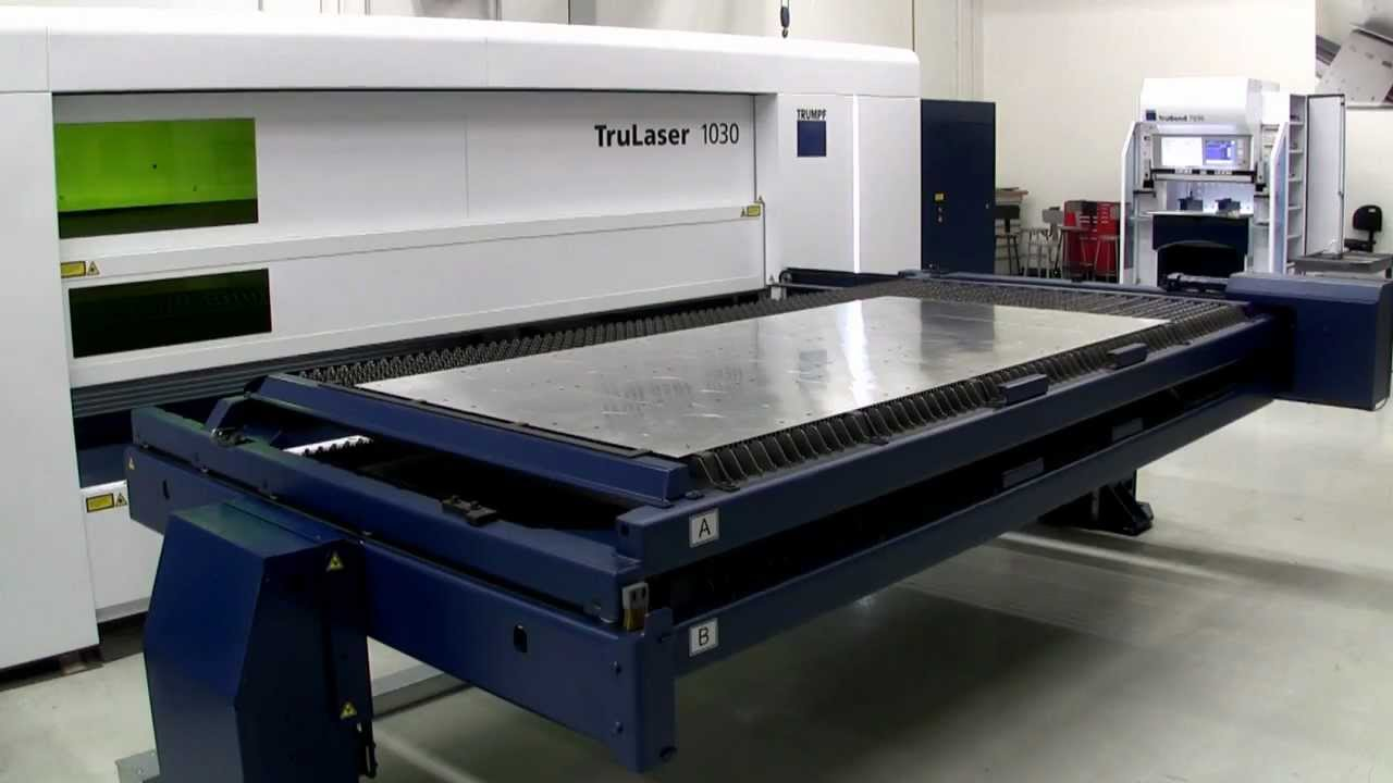 Trumpf Trulaser 1030 Pallet Changer Youtube