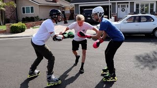 BOXING ON ROLLERBLADES!