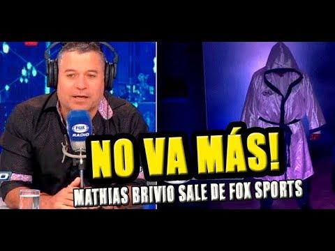 MATHÍAS BRIVIO ES REEMPLAZADO POR PERIODISTA EN FOX SPORTS RADIO