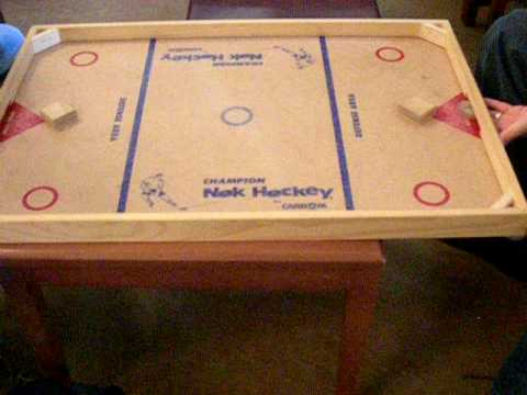 how to make a hockey net out of wood