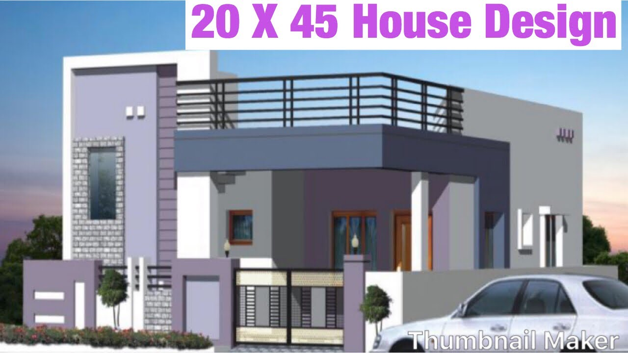 20 X 45 , 6m x 13.5m House Design, House Map, Plan , 1BHK, Car Parking Butifull The Houses Of Maps on