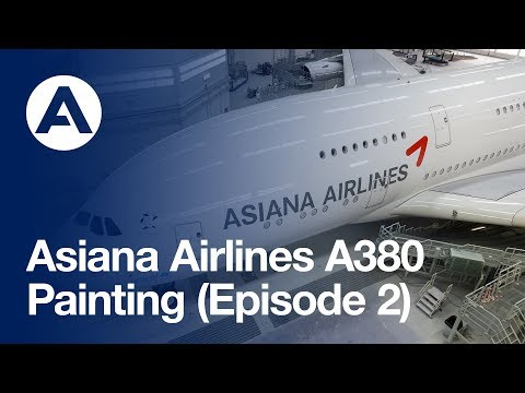 Asiana Airlines A380: Painting (Episode 2)