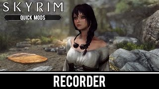 Skyrim Special Edition Mods: Recorder (Fully Voiced Follower)