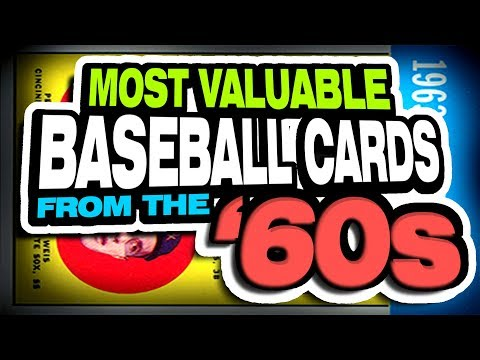 Top 20 Rookie Baseball Cards From The 1960's - Most Valuable 60's Rookie Baseball Cards