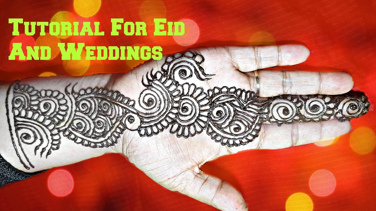 How To Apply Easy Simple Palm Mehndi Designs For Hands Tutorial For