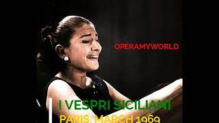 """Maria Callas Rehearsing """"Arrigo! Ah parli a un core"""" (Paris, March 1969)"""