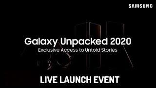 Galaxy Note 20, Galaxy Tab S7, Galaxy Watch 3, Galaxy Buds Live and Galaxy Z Fold 2 LIVE LAUNCH