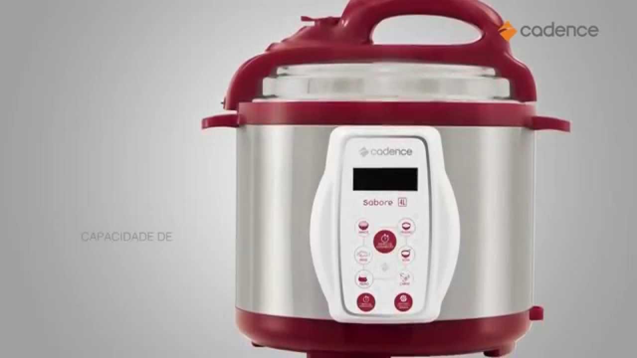 93c0deab0 Panela de Pressão Elétrica Cadence 4 litros Sabore - PAN900 - YouTube