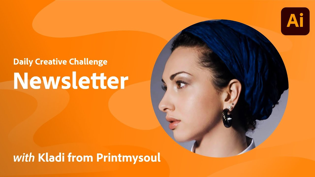 Illustrator Daily Creative Challenge - Newsletter