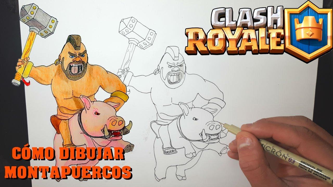 Dibujos Para Dibujar De Clash Royale: Cómo Dibujar MONTAPUERCOS Clash Royale Magic Bocetos