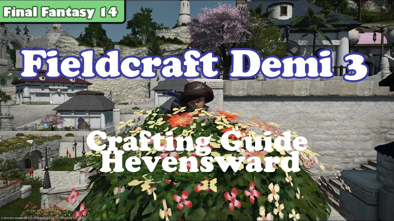 Ffxiv how to get fieldcraft demimateria iii