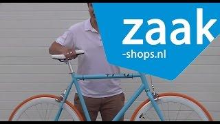 Cheetah blue/white/orange - Fixed Gear Bike