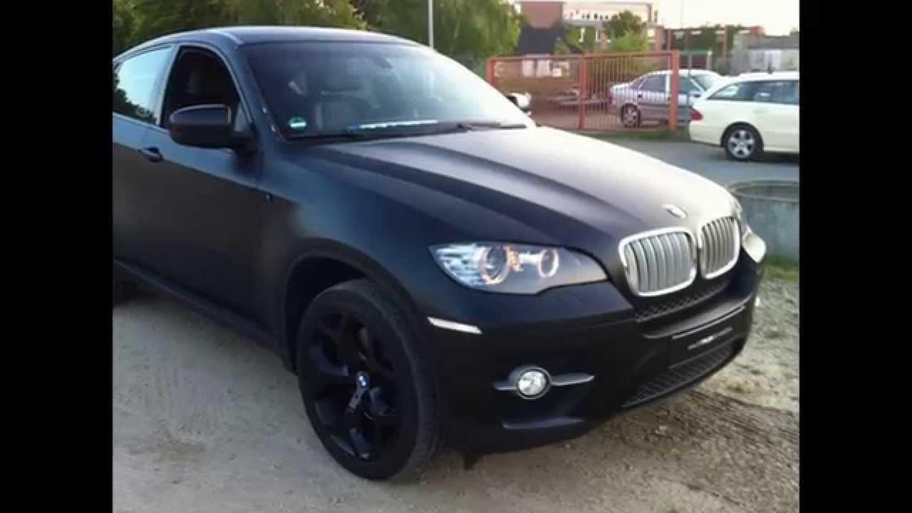 Bmw X6 Carwrapping Folierung Schwarz Matt 3m Black Monster