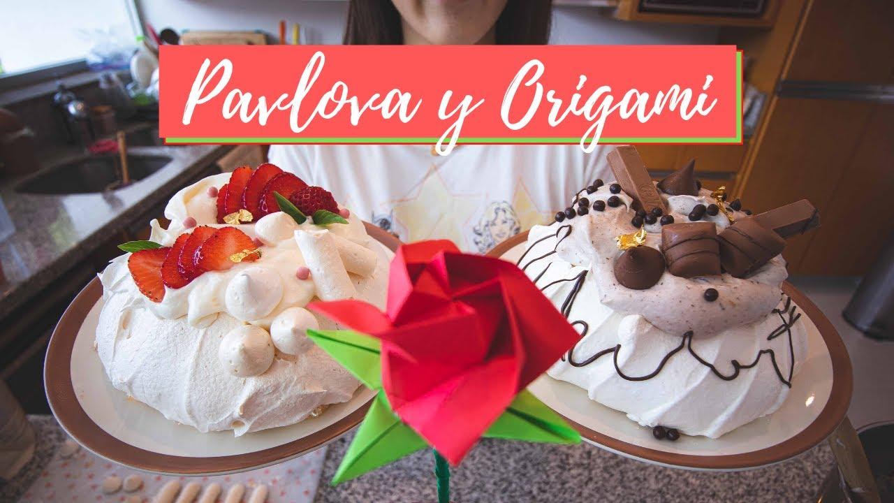 [Parte 2] Pavlova de Fresa & Chocolate ㅣOrigami de RosaㅣCoreanas en MexicoㅣFamilia Mexicoreana
