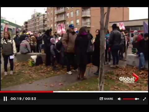 Global TV Covers Rally at Toronto Immigration Jail - Nov 23