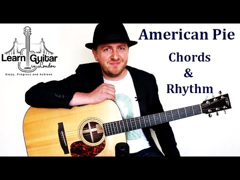 American Pie - Acoustic Guitar Lesson - Don McLean - Chords + Rhythm - How To Play
