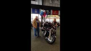Epic Gift!  Wife/daughter give dad a new 2014 Harley Davidson Ultra Limited!  @ Rattlesnake Mtn HD