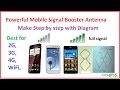 how to make mobile signal booster antenna at home - easy step by step