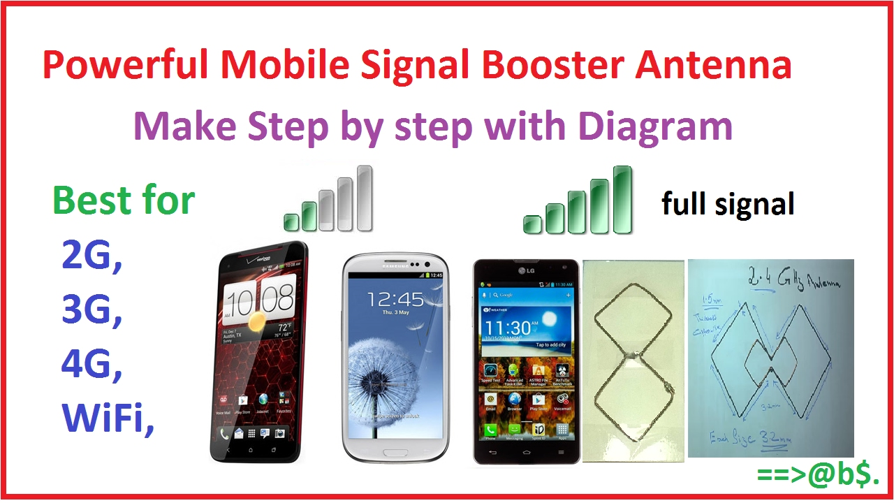 How To Make Mobile Signal Booster Antenna At Home Easy Step By