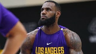 LeBron James ROASTED By Young Lakers SQUAD For Wearing SKIRT To Practice!