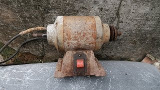 Old Grinding Machine Restoration Step By Step,So Easy