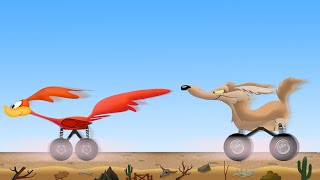 Roadrunner Monster Truck VS Coyote Monster Truck | Kids Toy Truck | Videos for Children