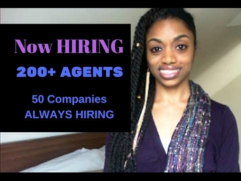 Now Hiring 200 Agents + List Of 50 Companies Always Hiring!