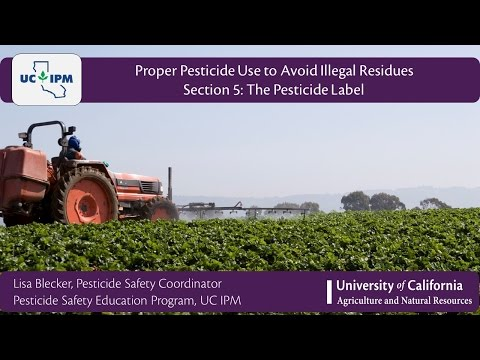Section 5: The Pesticide Label